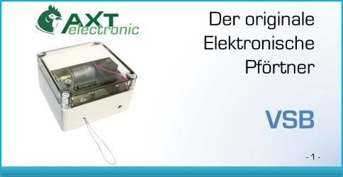 AXT Elektronischer Pf/örtner mit Batterie H/ühnerklappe 40 x 50 cm