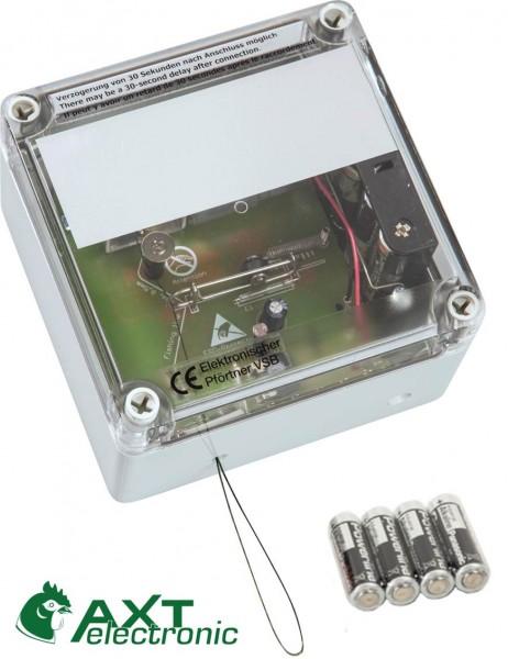 VSBb - Elektronischer Pförtner, automatische Hühnerklappe mit Batterien, Hühnertür